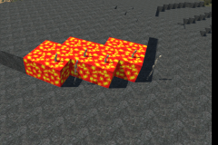 Marking mined blocks with Lava